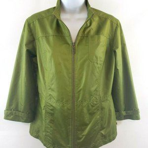 Zenergy By Chico's Olive Green Jacket Size S